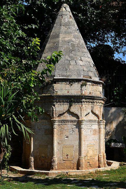 Garden of the Chania Archaeological Museum, Ottoman ablution fountain.