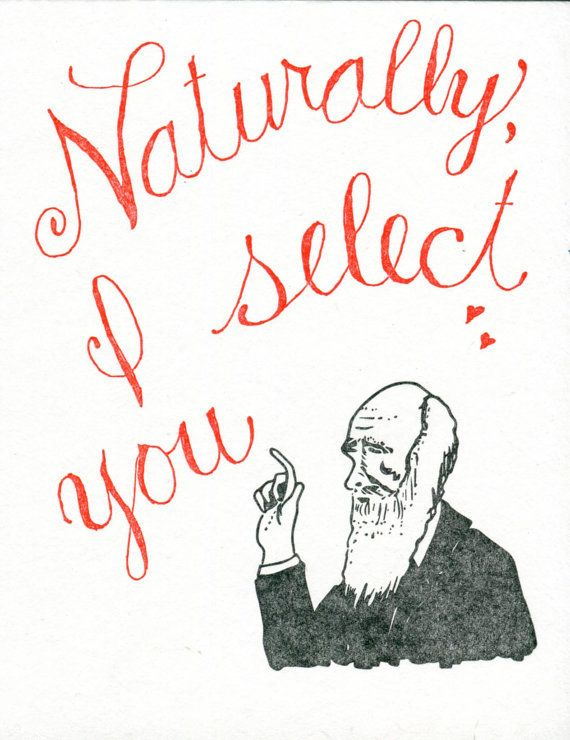 Nerdy Valentine's Day card a la Darwin :)