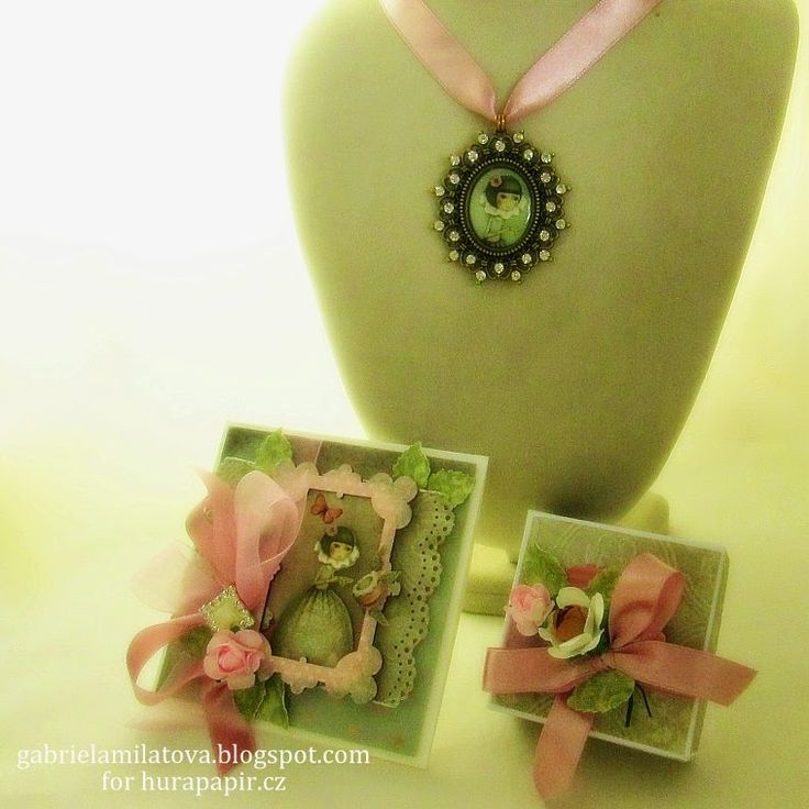 Hand-Crafted by Gabi M.: TUTORIAL: Santoro Gift Set (Card & Box with Necklace)