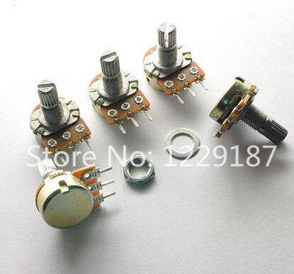 10 STKS Hoge Kwaliteit WH148 B10K Lineaire Potentiometer 15mm As Met Moeren En Ringen Hot