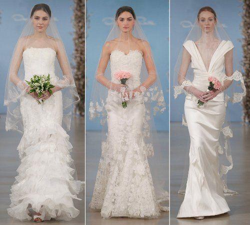 Svatební šaty a závoje od Oscara de la Renty