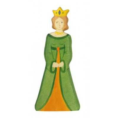 Träfigur drottning, giftfri färg