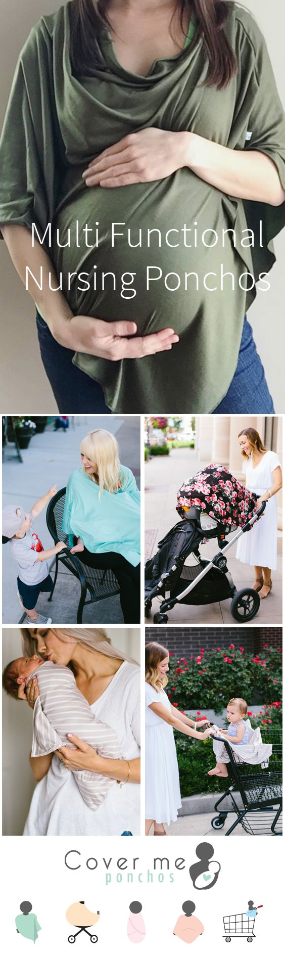 The best nursing cover under $30! Use for full coverage nursing, maternity top, swaddle, car seat cover, shopping cart cover, and more! Find out more here- https://covermeponchos.com/