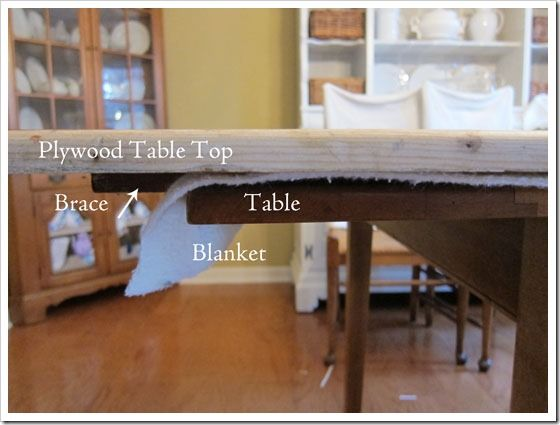 How To Enlarge A Dining Table for Extra Seating; extend your table to seat more for special occasions. Very easy!