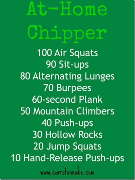 CrossFit Inspired At Home Chipper Workout