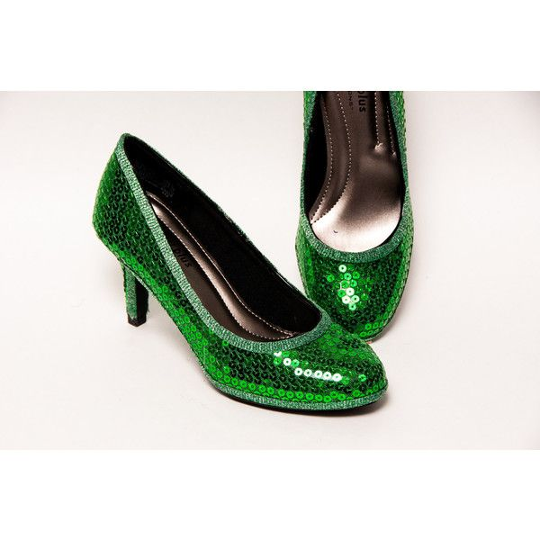 Pailletten 3 Inch Kelly groene hoge hakken Pumps Dress schoenen ($105) ❤ liked on Polyvore featuring shoes and pumps