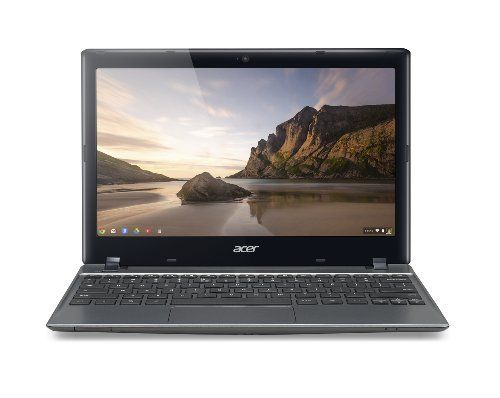 """Acer C710-2605 11.6-Inch Chromebook (Iron Gray) by Acer Computer. $299.99. Amazon.com                Continually updated, always new, the Acer C7 Chromebook keeps getting better and better. It starts in seconds, has virus protection built in, and runs your favorite Google apps plus thousands more. At about an inch thin and 3 lbs. light, this Chromebook goes wherever you go and keeps your files safe and secure in the cloud.  Key Features  11.6"""" HD Widescreen CineCrystal"""