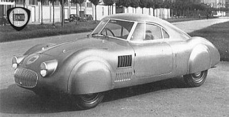c.1938 LANCIA APRILIA AERODINAMICA HIGH SPEED TEST VEHICLE - coachwork by  Stabilimenti Industriali Giovanii Farina of Turin.