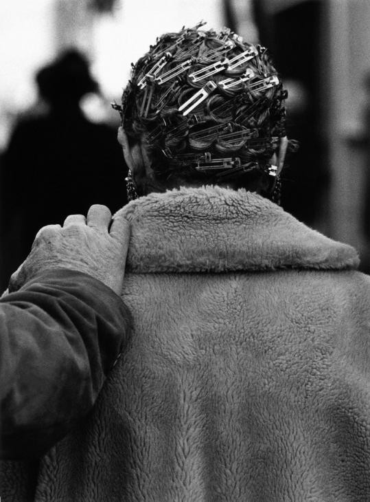 Christer Strömholm: Strömholm, 1963 Christer, Los Angeles, Pin Curls, Hair Clip, Bobby Pin, Black, Street Photography