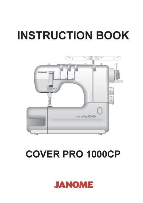 Janome CP40 Cover Pro Sewing Machine Instruction Manual Sewing Unique Instruction Manual For Janome Sewing Machine