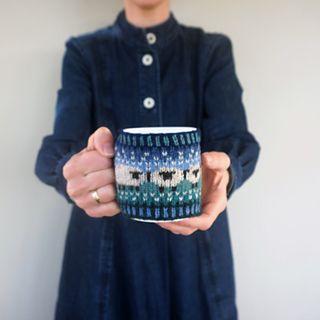 Baa-ble mug cosy by Donna Smith