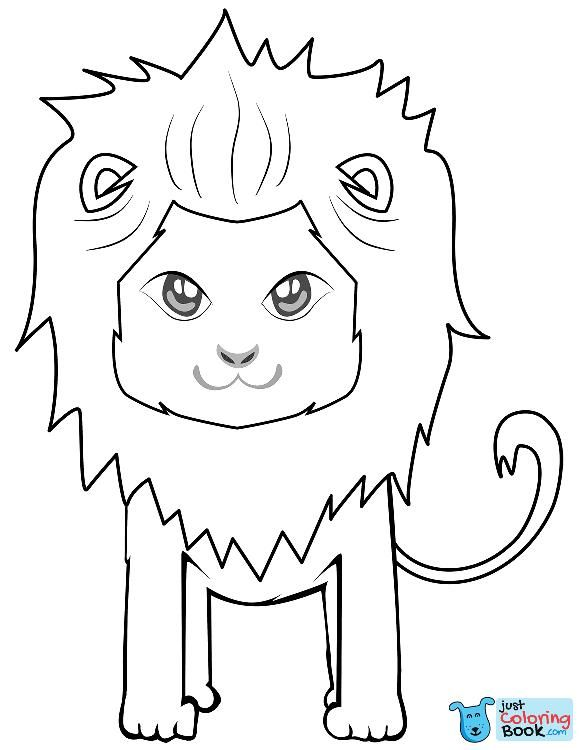 Cute Baby Lion Coloring Pages Animals Coloring Picture Animal