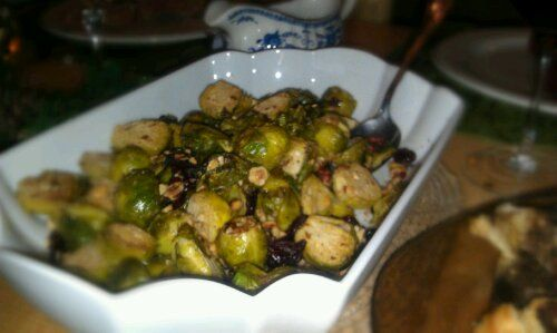 Tender brussel sprouts, tossed in a mustard marinade then broiled ...