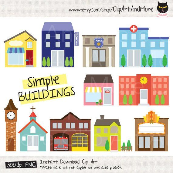 Building Clipart Fire Station Clipart Police Station Clipart Etsy In 2021 Clip Art Fire Station Easy Drawings