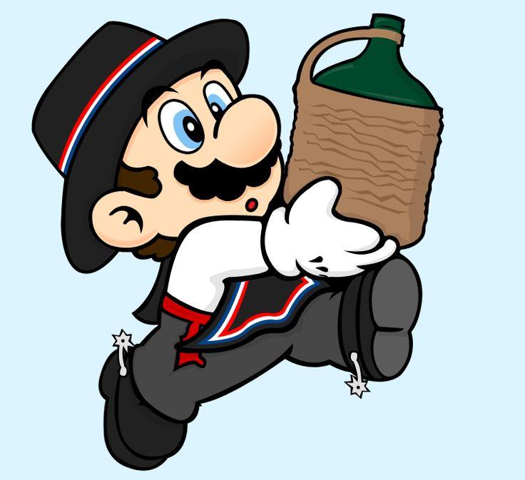 Mario, la mascota de Nintendo, como huaso chileno.