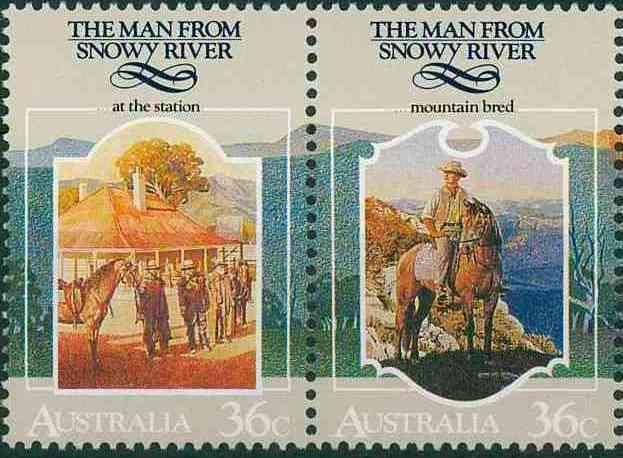 man from snowy river poem banjo paterson | Sunday Stamps: The Man from Snowy River