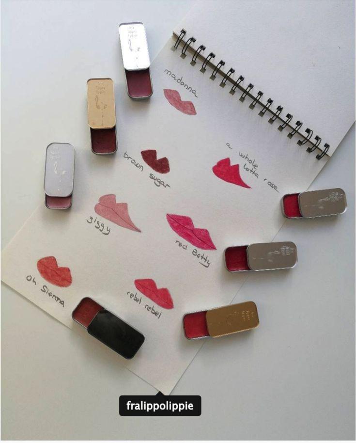 A lip drawing with all my beautiful colours by @parsimonialatienda #vegan #lipsticks