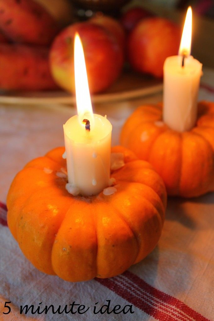 A stylish halloween display of fresh veg & fruit with mini-pumpkins and candles. Vist www.Livingcolourstyle.com to see more