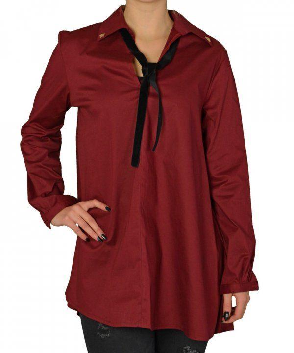 Γυναικείο πουκαμισοφόρεμα κλος Coocu μπορντό τσοκερ 39803C #γυναικείαπουκάμισα #ρούχα #στυλάτα #fashion #μόδα #γυναίκες #βραδυνά #μεταξωτά