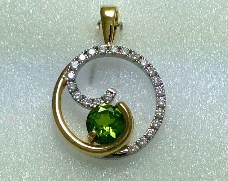 Gold diamond and period pendant