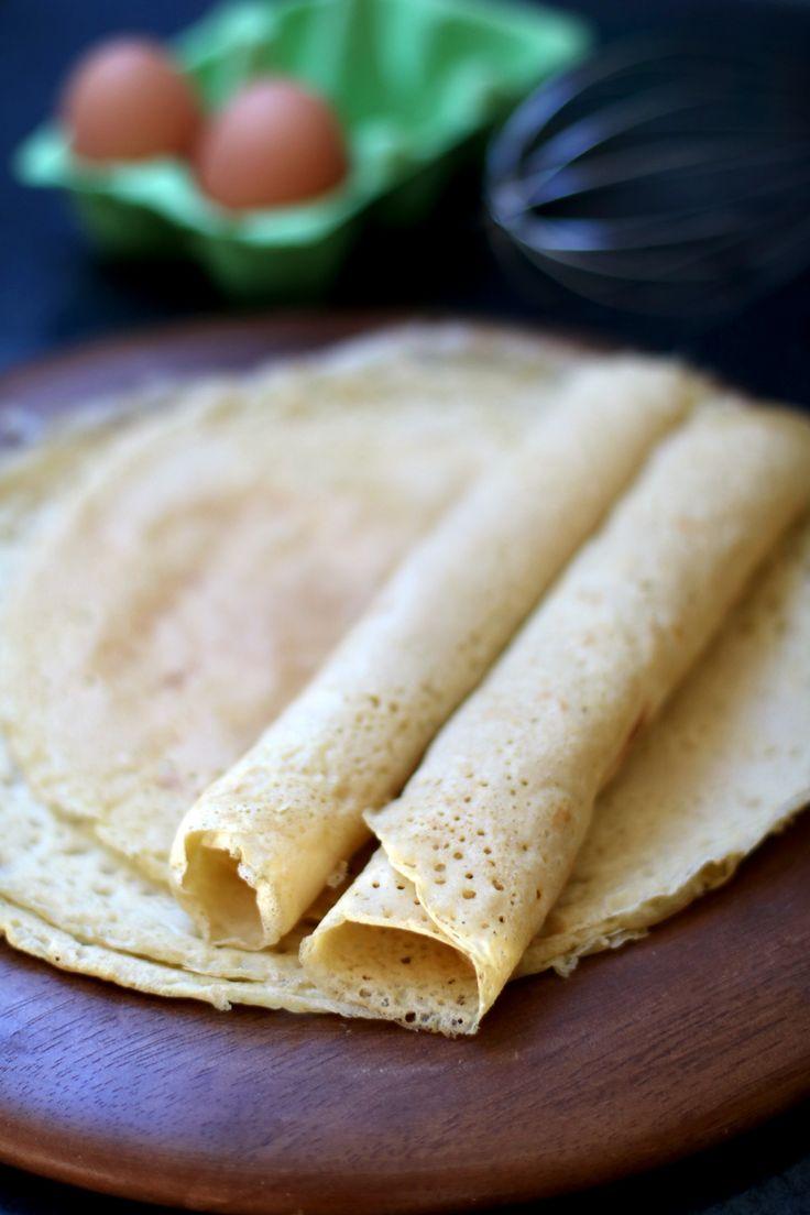 Crêpes à la farine de riz {sans gluten, sans lactose} « Cookismo   Recettes saines, faciles et inventives