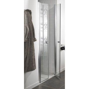 porte de douche battante premium sensea verre s curit transparent 80cm leroy merlin salle. Black Bedroom Furniture Sets. Home Design Ideas