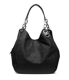 The BLACK MK monogrammed Fulton Large Shoulder Bag Michael Kors purse $398. I just bought myself one last week & I must say I ADORE IT