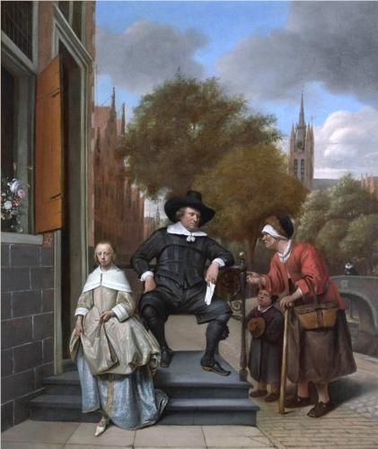Burgher of Delft and his Daughter - Jan Steen