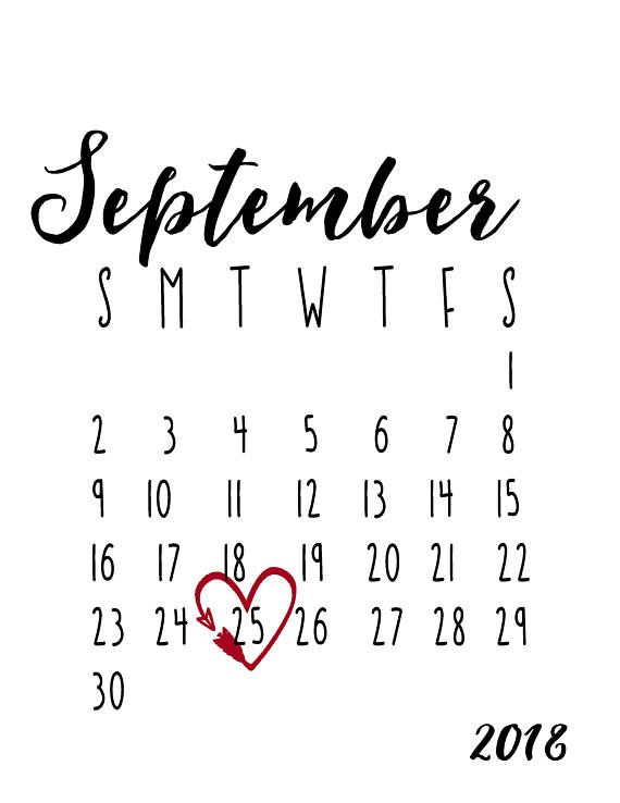 september 2018 calendar pregnancy announcement printable social media reveal black white monthly calendar maternity photo shoot photo prop