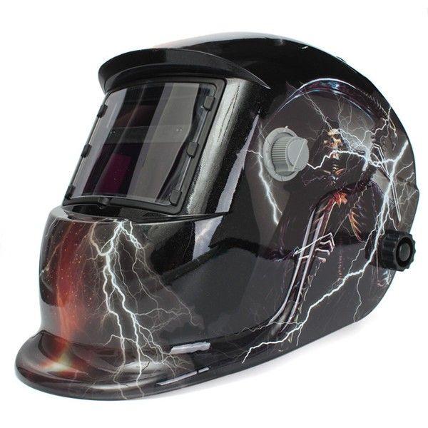 Skull God With Lightning Solar Auto Darkening Welder Mask Helmet Electrowelding Welding TIG MIG Welder Mask