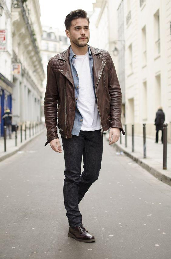 Bel ensemble perfecto & jeans #jeans #perfecto #homme #mode #fashion #fashionformen