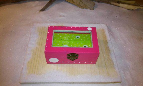 Wooden boxOrganization box Pink box Small box by Zozelarium
