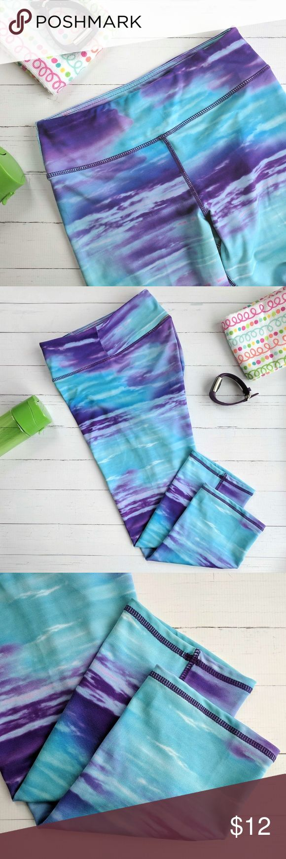 Kyodan Blue Purple Ombre Leggings Kyodan Blue Purple Ombre Leggings Fun ombre print Size XS These are made of a thicker material. Great condition! Kyodan Pants Leggings