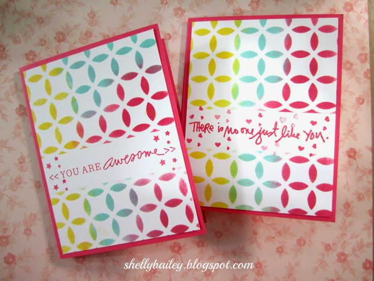 Shelly's Creations: Stenciled Cards