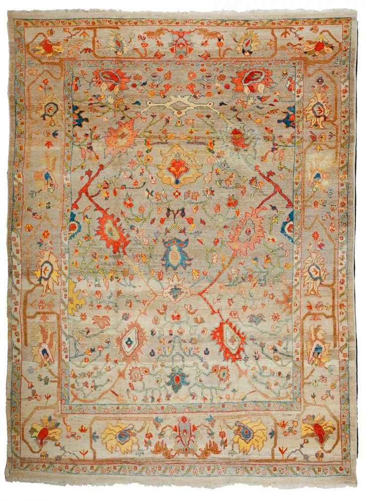 New Oushak Rugs Number 14207, Antique Recreations | Woven Accents