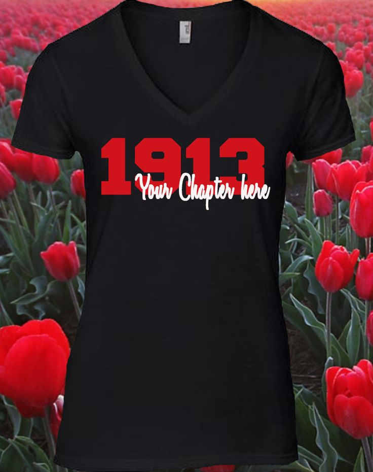Custom DST Shirt. Put your chapter on the shirt. Be original and customize your Greek paraphernalia. Please put your chapter name in the note section when ordering. Example Chapter name: Alpha Alpha *
