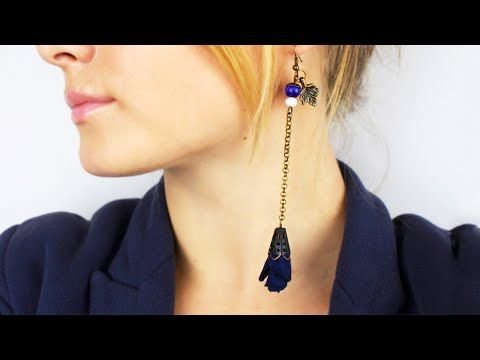 Our tutorial will help you to make DIY long earrings on the chain that add romance to your image or become a perfect unforgettable gift! #diyearrings #accessory #fabricearrings
