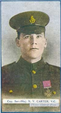 His cigarette card - Nelson Carter VC