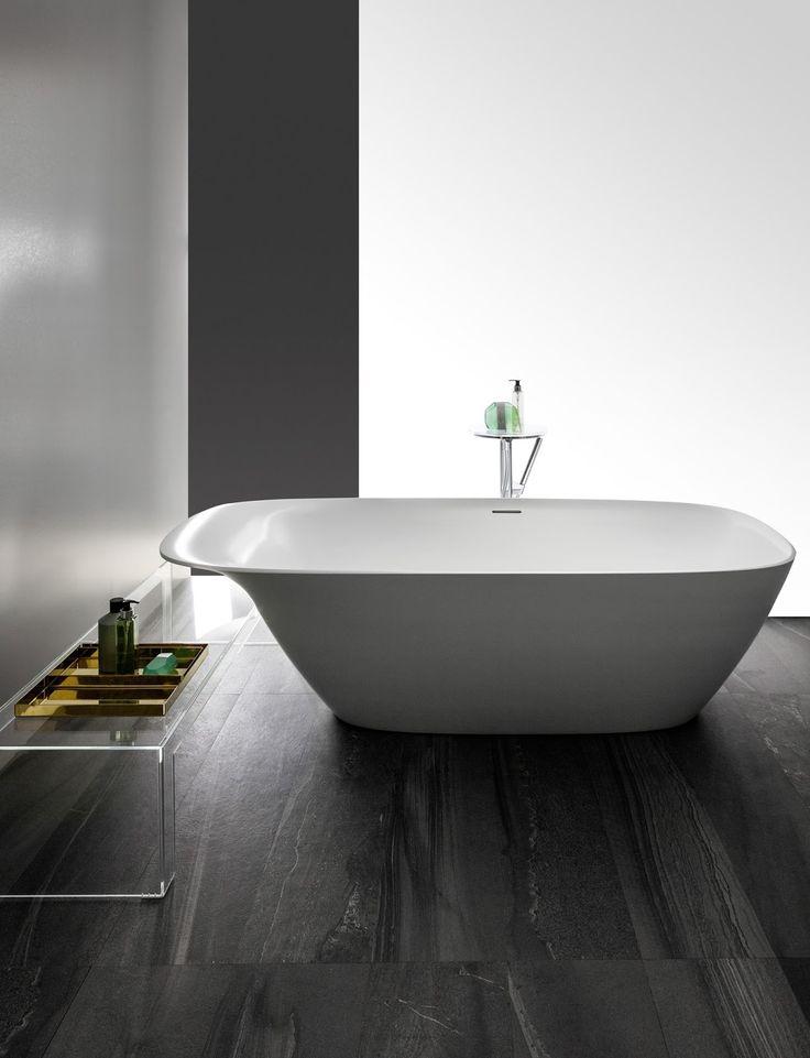 Blog da Revestir.com: SPA em casa! A Coleção Ino, projetada para a  Laufen pelo designer francês Toan Nguyen traz uma nova interpretação para produtos de sala de banho. Entre as peças, a banheira de imersão destaca-se pela elegância do traço suave e convidativo