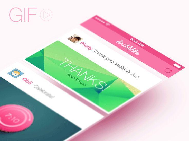 What a great, playful responsive UI design | Designer: Plady - http://dribbble.com/shots/1209105-first-shot #ui #responsive #aniimation