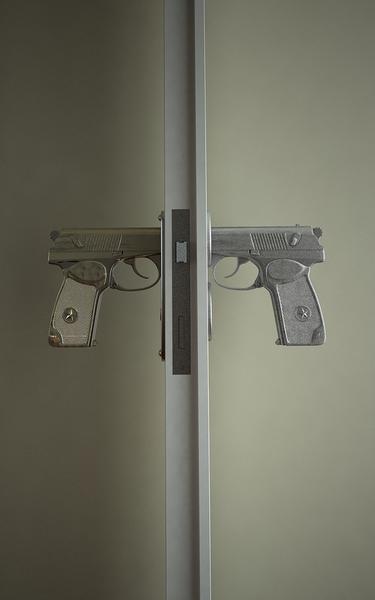 handgun door handle