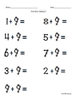 Touch Math Addition  Adding 9   Touch math, Math addition ...