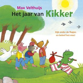 Het jaar van Kikker   Er is van alles te beleven in de wereld van Kikker. Het hele jaar door.  Speel mee met Kikker en zijn vriendjes en kijk achter alle flapjes!  Het eerste grote flapjesboek van Kikker!
