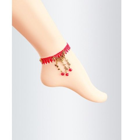 Red Lace Fire #Anklet With Hot Red Crystals  Buy your matching #lace jewellery now