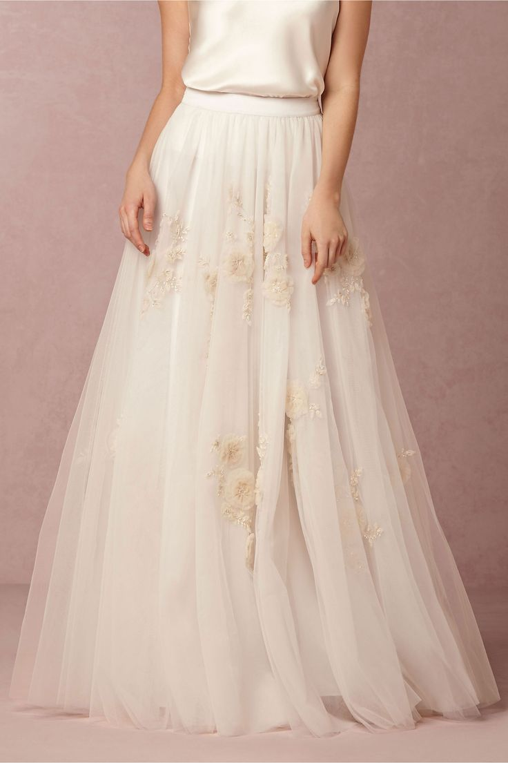 Isabel Skirt in Bride at BHLDN