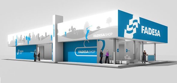 Fadesa Stand on Behance