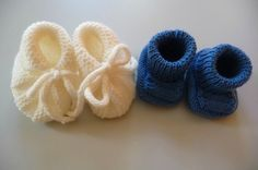 Chaussons bébé tricot - explications gratuites en français