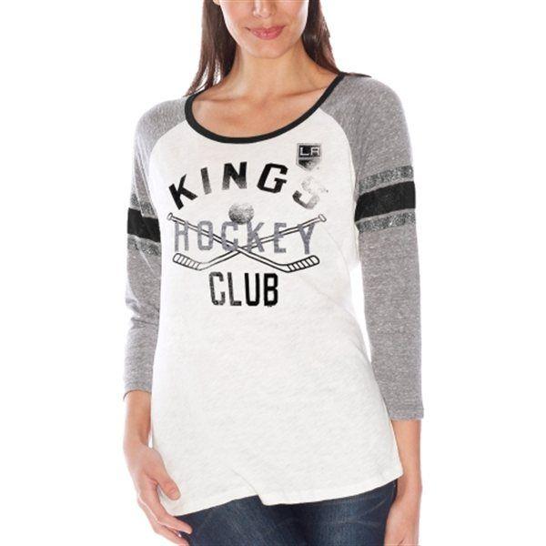 Chicago Blackhawks Women's White Wishbone T-Shirt