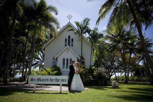 The stunning Port Douglas wedding chapel. Let us help you plan your elopement wedding now.