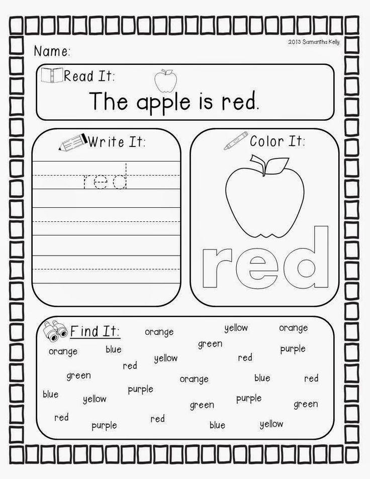 kindergarten color worksheets red color red worksheets for kindergartencolor kindergartenred. Black Bedroom Furniture Sets. Home Design Ideas